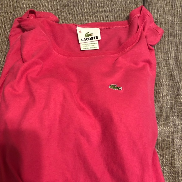 Lacoste Tops - SOLD >    Lacoste Long sleeve t shirt